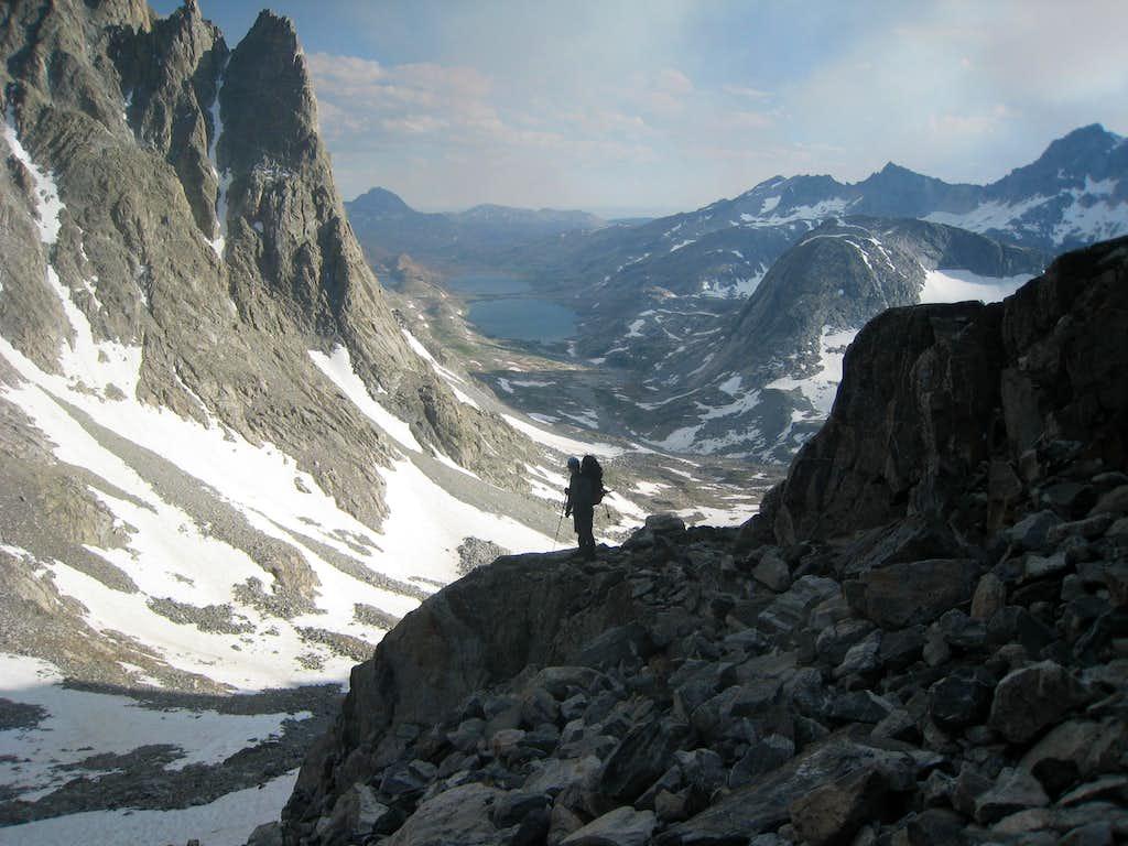 Titcomb Basin from Bonney Pass