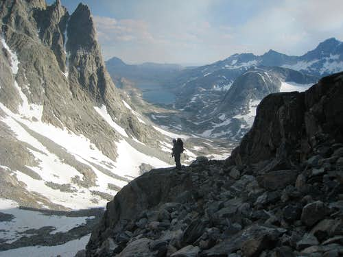 Titcomb Basin from Bonney Pass