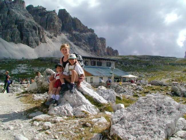 My Family near Lavaredo refuge