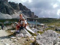 My Family near Lavaredo refuge