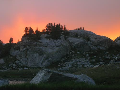Sunset from Island Lake