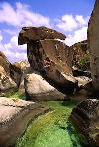 Bouldering near The Baths