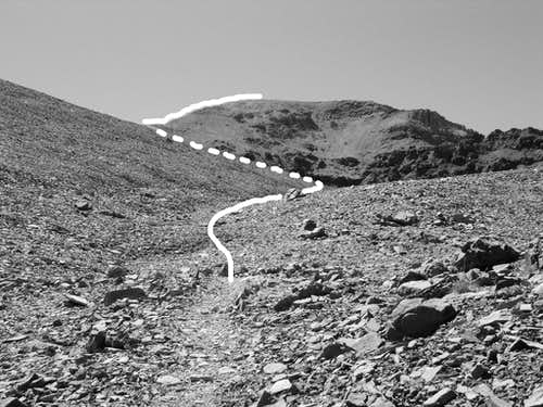 Route to Leavitt Peak from Pacific Crest Trail