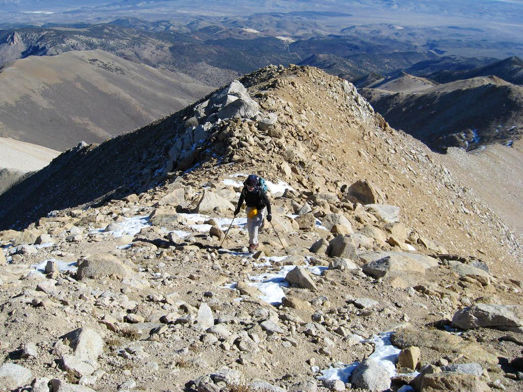 Michael nearing the summit