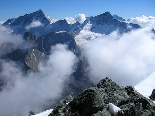 View from the summit of Grand Cornier 3962m