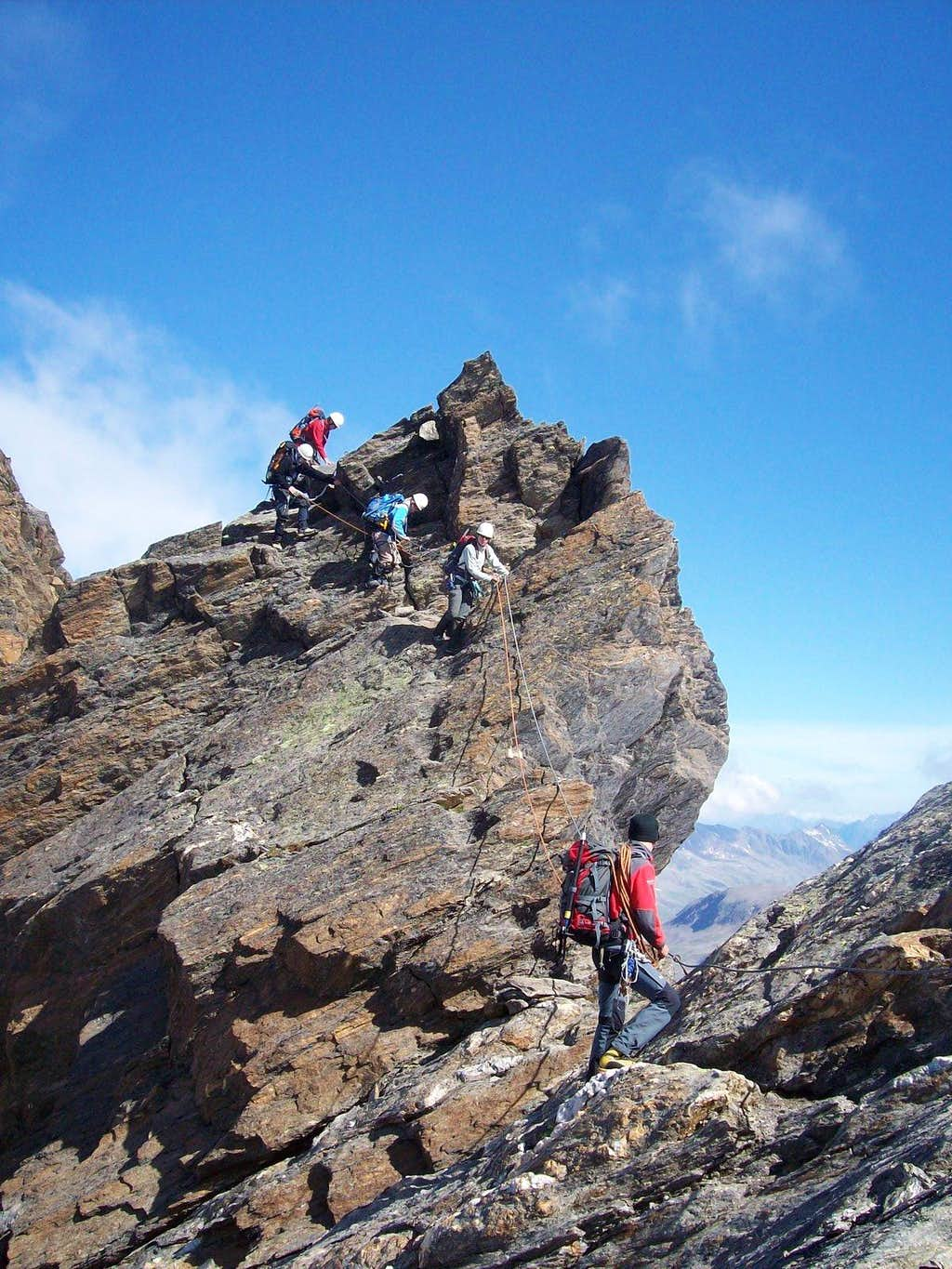 On the traverse of the Hohe Wilde