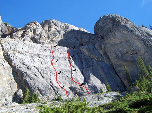Walk of Ages, 5.10b, 4 Pitches