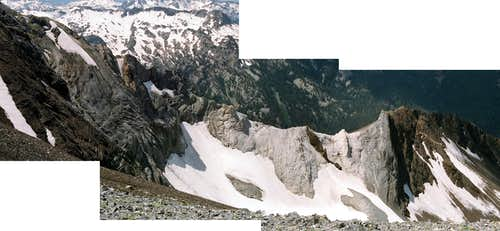 Panorama of  Very Rugged Northwest Ridge