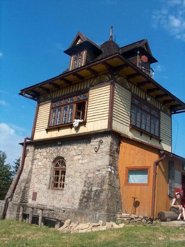 The mountain hut on Lubon, Gorce