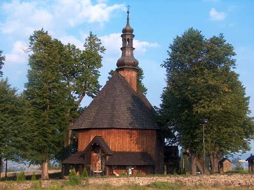 Wooden church in Piatkowa, Gorce