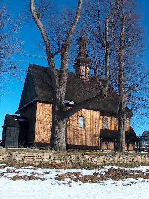 Wooden church in Piatkowa, Gorce