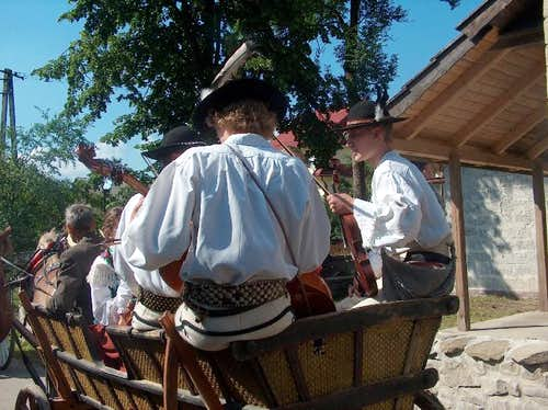 Folkloric party in Ponice, Gorce