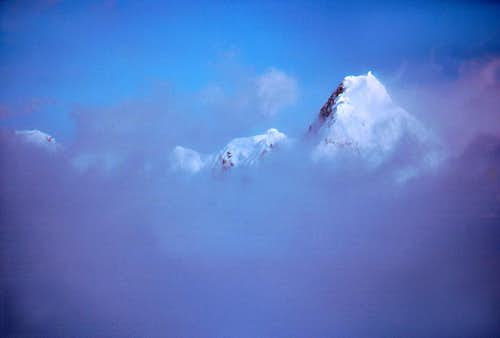 Mount Hungtinton in a Sea of Clouds