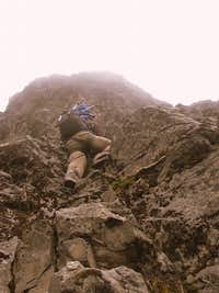 Scrambling up on Rucu Pichincha.