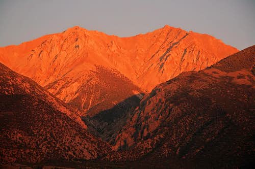 Sunset on Boundary & Montgomery Peaks