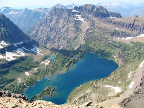 Hidden Lake Aerial View