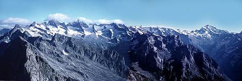 panoramic of Masino Alps from...