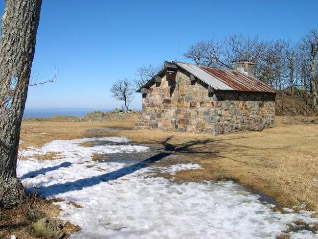 Shelter near the summit of...