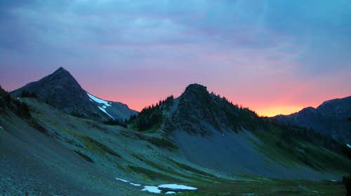 Fiery Sunset at Hayden Pass