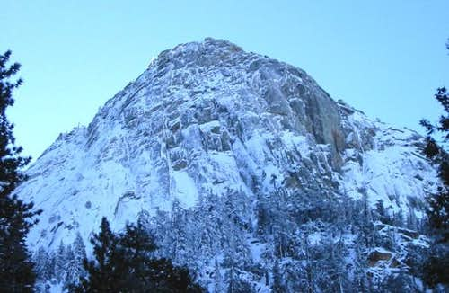 Tahquitz Rock blanketed in...