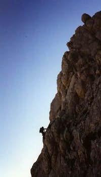 Bakirtepe rockclimbing route.