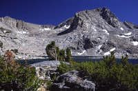 Muriel Peak and Muriel Lake