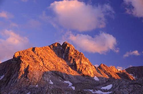 Alpenglow on Muriel Peak