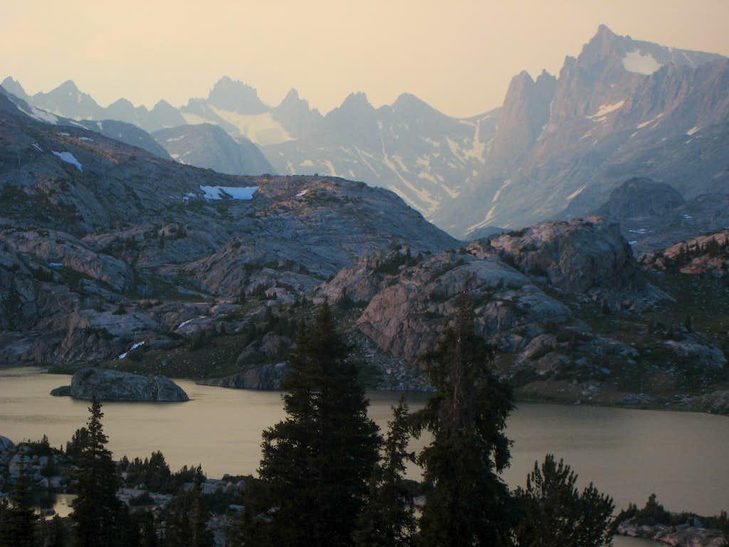Island Lake and Bonney Pass