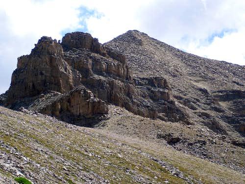 North cliffs of Yard Peak