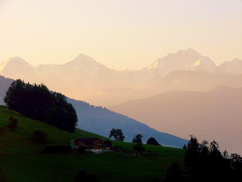 Eiger, Mönch and Jungfrau at dawn