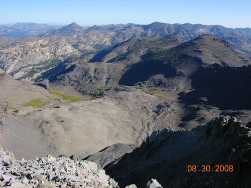 View North into the Carson-Iceberg Wilderness