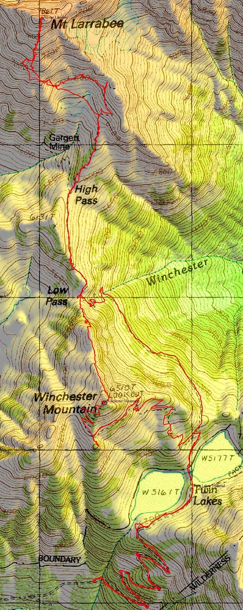 Mount Larrabee and Winchester route
