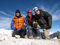 Our 3 man team on the summit