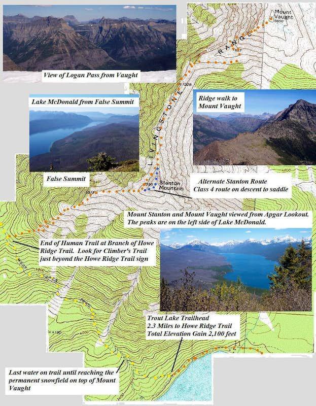 Mount Vaught GNP Climbing Hiking Mountaineering SummitPost