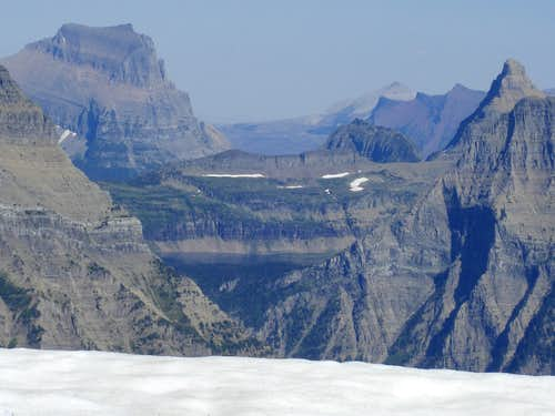 Logan Pass area from Vaught