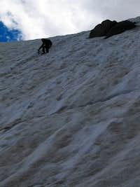 Steep downclimbing
