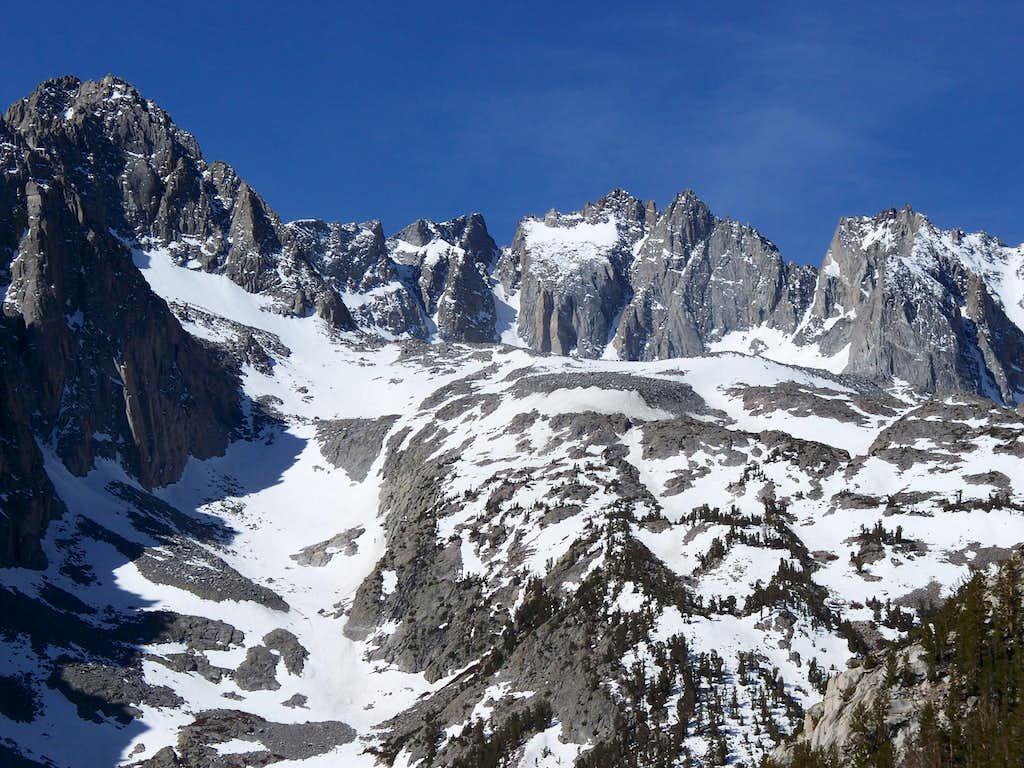 North Palisade Massif
