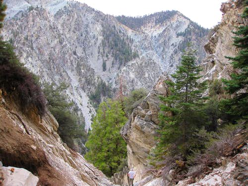 Rappel Point in Vivian Creek