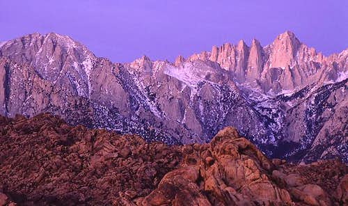 Mount Whitney and the Alabama...