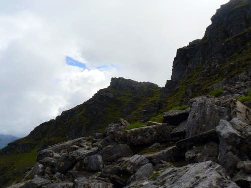 Rocky outcrops of Ben Lui