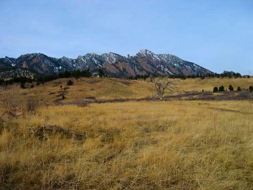 South Boulder Peak (on left)...