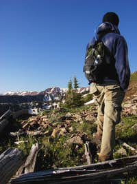 Hiking to summit Sopris