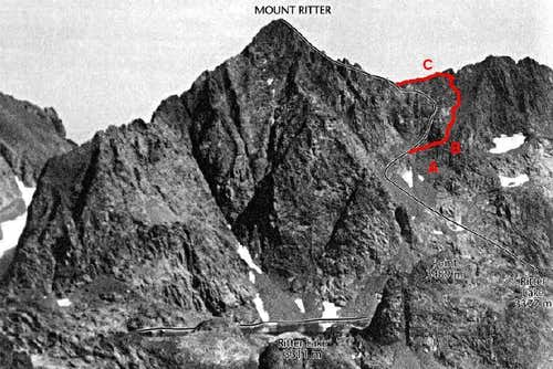Mount Ritter, Corrected West Slope Route