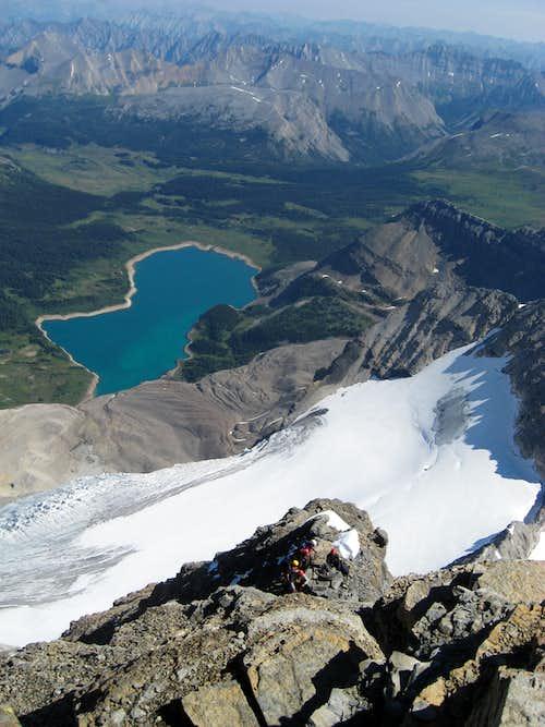 Climbers on the north ridge