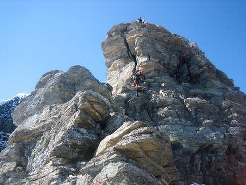 North Ridge climbing