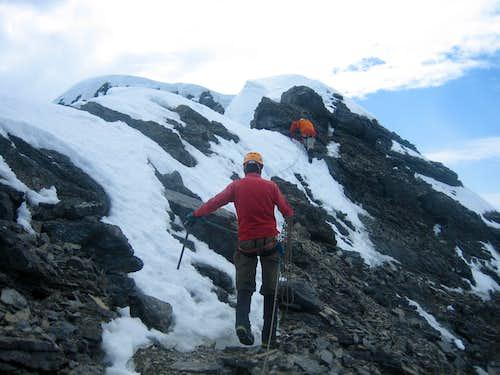Traverse to summit