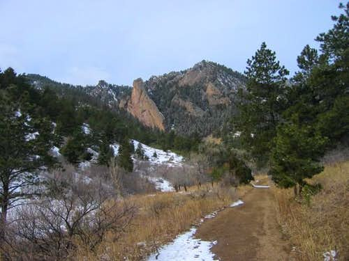 Approaching Shadow Canyon on...