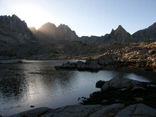 Dusy Basin at sunrise