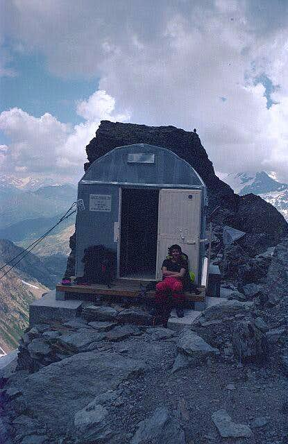 The Bivouac-Hut near the foot...
