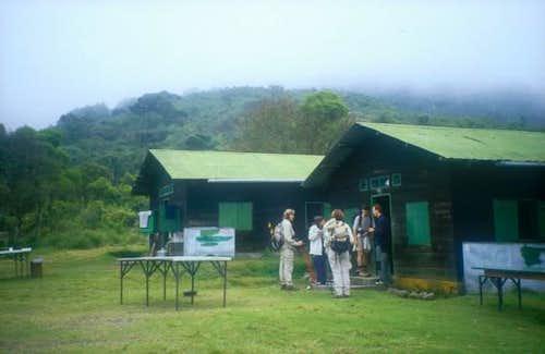 Arrival at Miriakamba Hut....